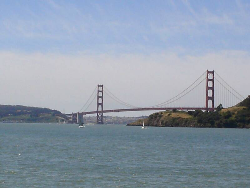 the golden gate bridge from a distance