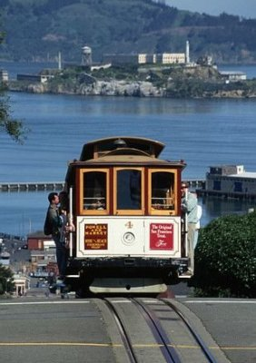 it's not san francisco without these cable cars