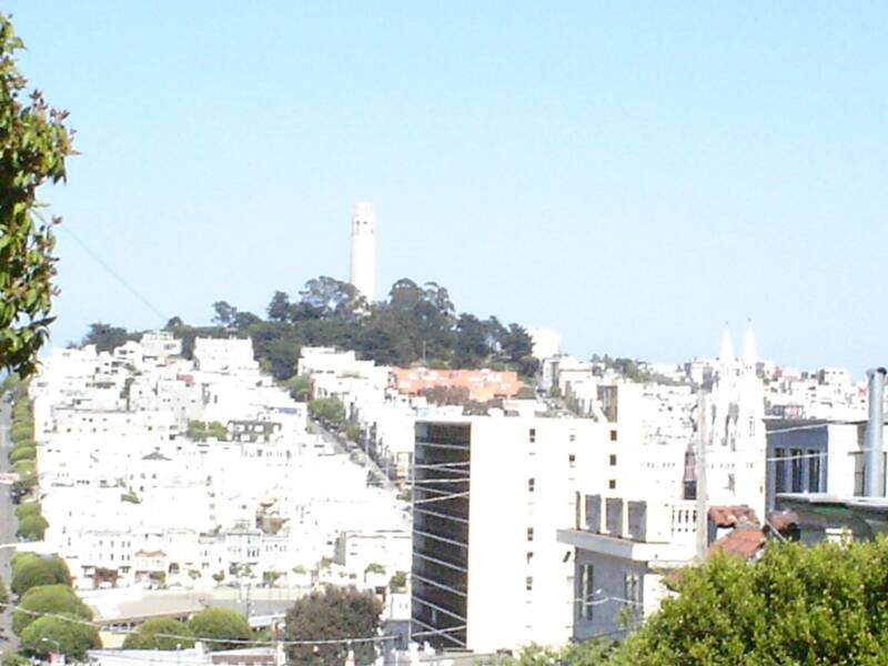 no filter on my camera so this is what happened. coit tower yonder.