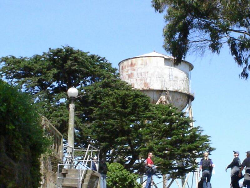 the old water tower of alcatraz